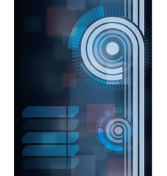 abstract blue tech cartoon background vector image