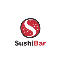 Abstract fish letter s for sushi logo icon vector