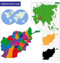 Afghanistan map vector
