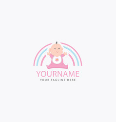 bafunny logo template pink and blue logo for vector image