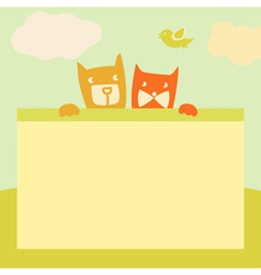 Banner with space for text Pets Cartoon vector