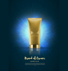 blank plastic cosmetic cream tubes eps10 vector image