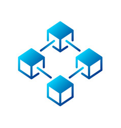 blockchain blue creative icon or logo element vector image