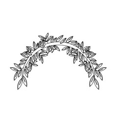 branch tree olive decoration natural peace symbol vector image