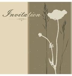 Brown Invitation vector