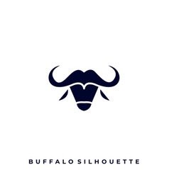 buffalo silhouette design template vector image