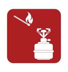 Burner matches icon vector