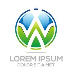 business creative letter w emblem logo design icon vector image