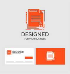 Business logo template for agreement contract vector