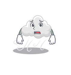 Cartoon design style cloudy windy showing vector