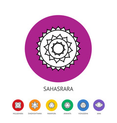 chakras set spirituality and energy healing vector image