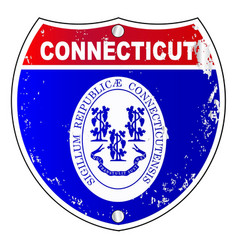 Connecticut interstate sign vector