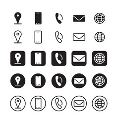Contact information icons vector