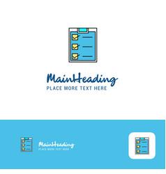 creative checklist logo design flat color logo vector image
