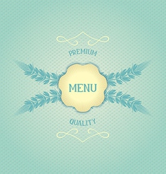 Design menu for restaurant vector image