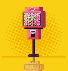Dispenser of chewing gum machine electronic vector