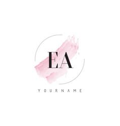 Ea e a watercolor letter logo design with vector