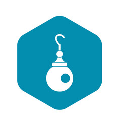 Earring icon simple style vector