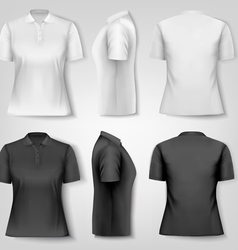 Female polo shirts Design template vector