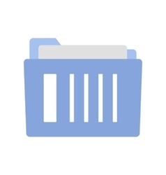 File folder flat icon vector image