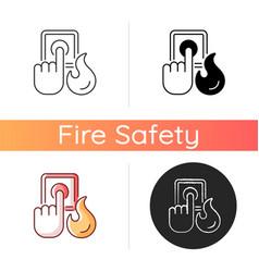 Fire alarm icon vector