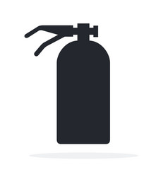 fire extinguisher icon flat isolated vector image