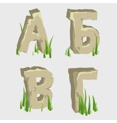 first four letters russian alphabet vector image