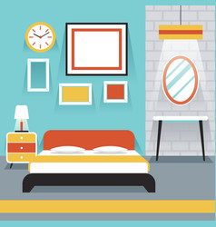 Furniture Display in Room Bedroom vector image vector image