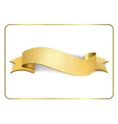 Gold ribbon foil on white 1 vector