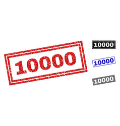 Grunge 10000 scratched rectangle watermarks vector