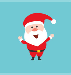 Happy santa claus character flat style vector