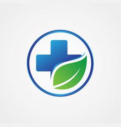 health cross leaf symbol vector image