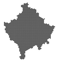 Hex tile kosovo map vector