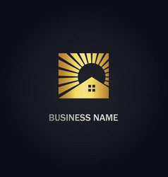 Home realty shine company gold logo vector