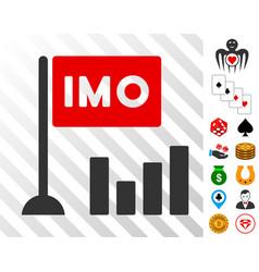 Imo bar chart icon with bonus vector