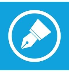 Ink pen nib sign icon vector