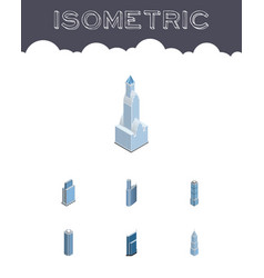 Isometric construction set of exterior urban vector