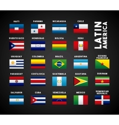 latin america countries vector image