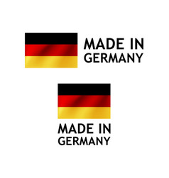 Made in germany label tag template vector