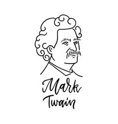 mark twain - samuel langhorne clemens- an american vector image