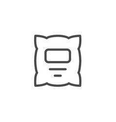 milk packet line outline icon vector image