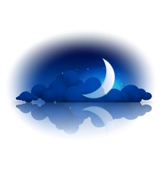 Moon and clouds vector image