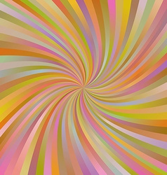 Orange abstract multicolor spiral ray background vector