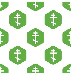 Orthodox cross pattern vector