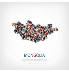 People map country Mongolia vector