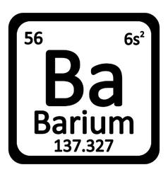 Periodic table element barium icon vector image
