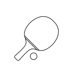 Ping pong line icon vector image