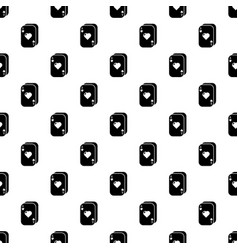 poker cards pattern seamless vector image