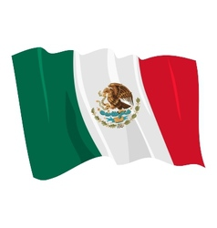 Political waving flag of mexico vector