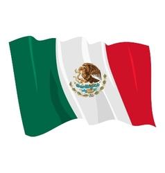 Political waving flag of mexico vector